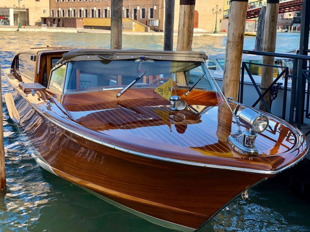 Our Private Water Taxi Limousine in Venice Italy. The Luxury and Exclusive Service for your and your Guests.